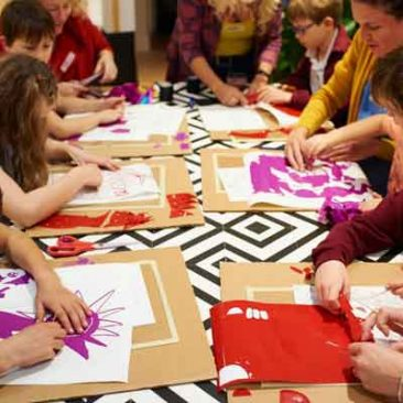 Photo of Blue Peter solar artwork workshop with Art and Energy.