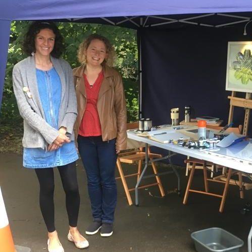 Jenny and Chloe at Tavi Eco Fest 2019