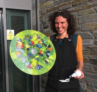 Jenny with solar artwork